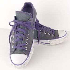 Converse purple and gray double tongue 8